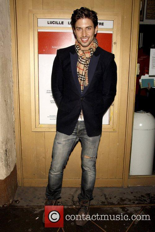 Nick Adams Opening night of the Off-Broadway play...