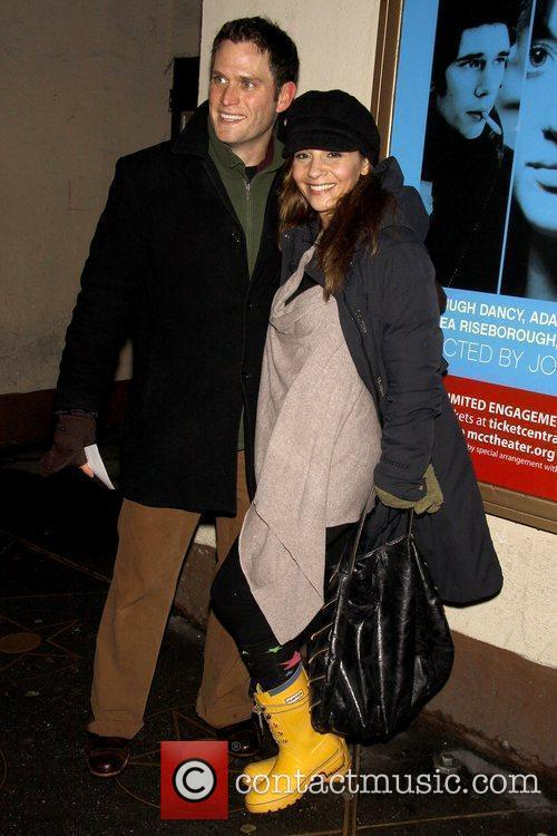 Steven Pasquale and Callie Thorne Opening night of...
