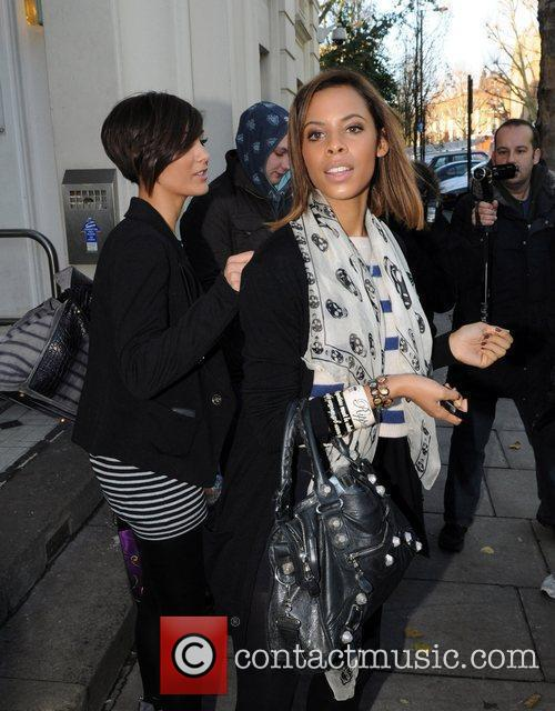 Frankie Sandford and Rochelle Wiseman of The Saturdays...