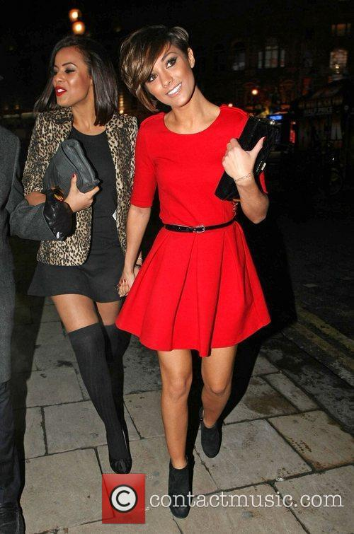 Rochelle Wiseman and Frankie Sandford leaving the Met...