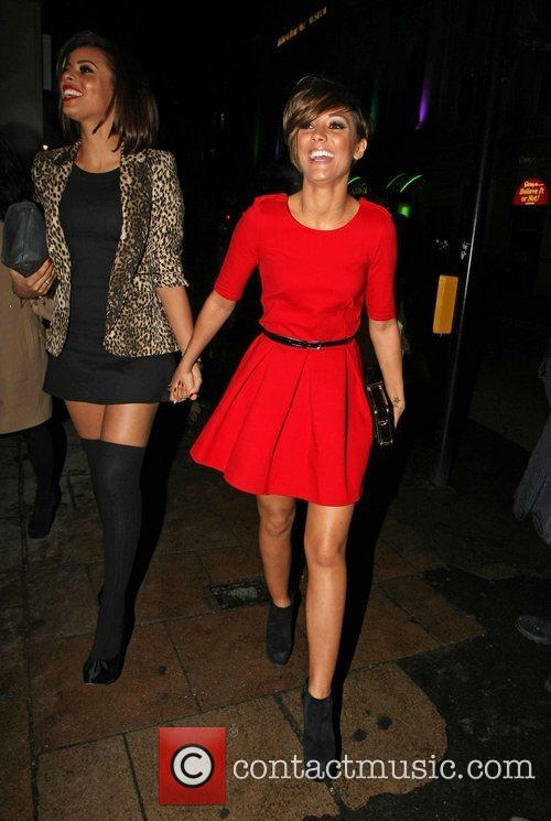 Rochelle Wiseman and Frankie Sandford leaving the Met...