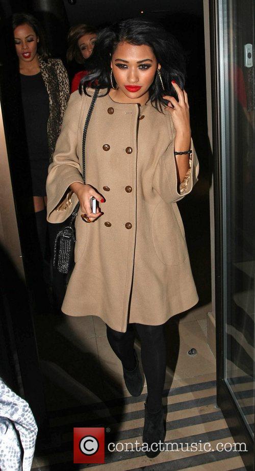 Vanessa White leaving the Met hotel London, England