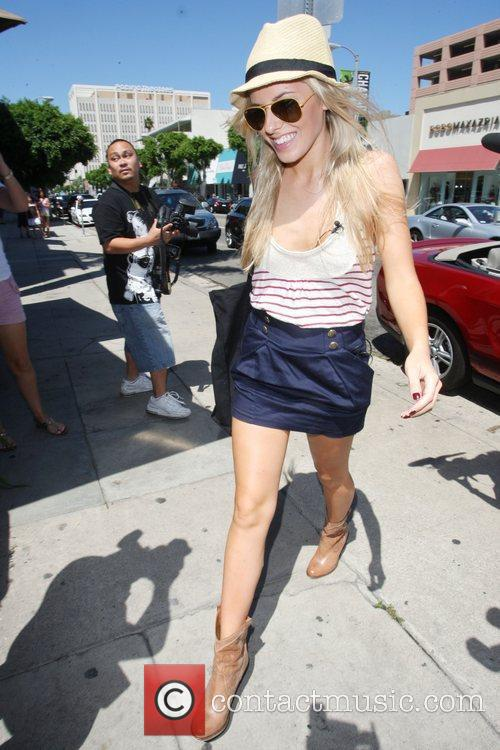 Mollie King  The Saturdays are seen shopping...