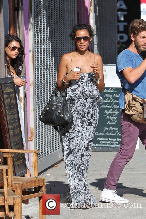 Rochelle Wiseman of The Saturdays leaving a tattoo...