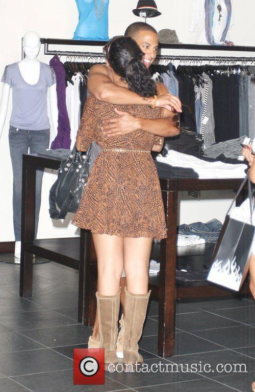 Rochelle Wiseman, Marvin Humes The Saturdays are seen...