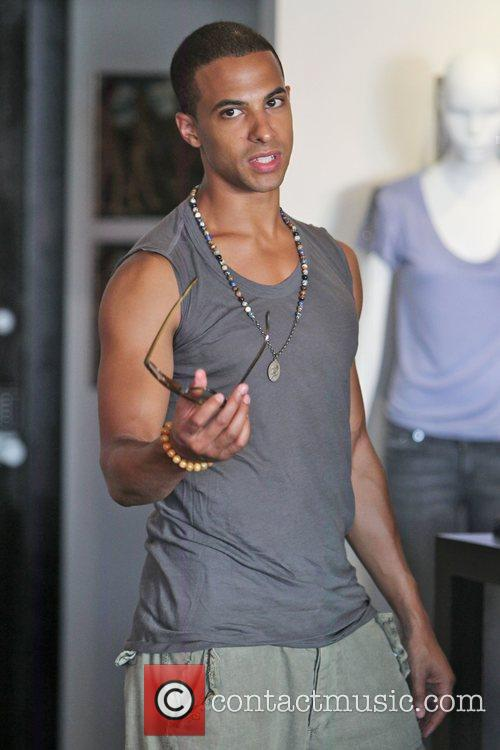 Marvin Humes The Saturdays are seen shopping on...
