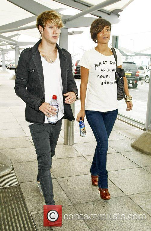 Frankie Sandford and a friend of The Saturdays...