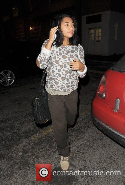 Vanessa White from girl group The Saturdays leaves...
