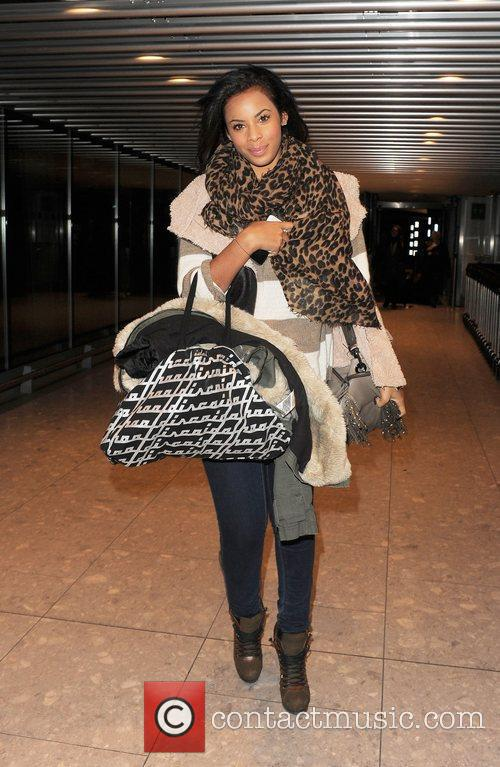 Rochelle Wiseman from girl group The Saturdays arrives...