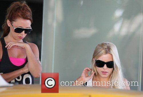 'The Saturdays' making their way to dance practice...