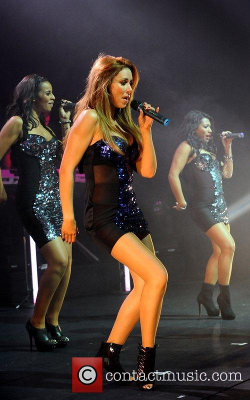 The Saturdays perform live at the launch The...