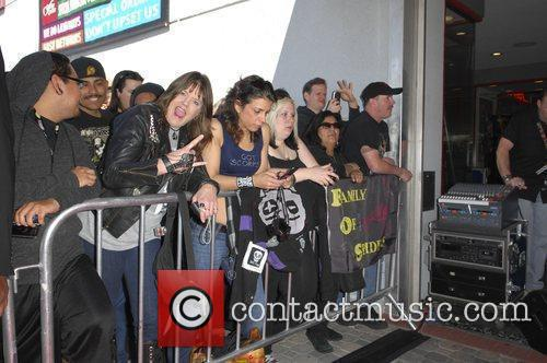 Fans The Scorpions are inducted on Hollywood's RockWalk...