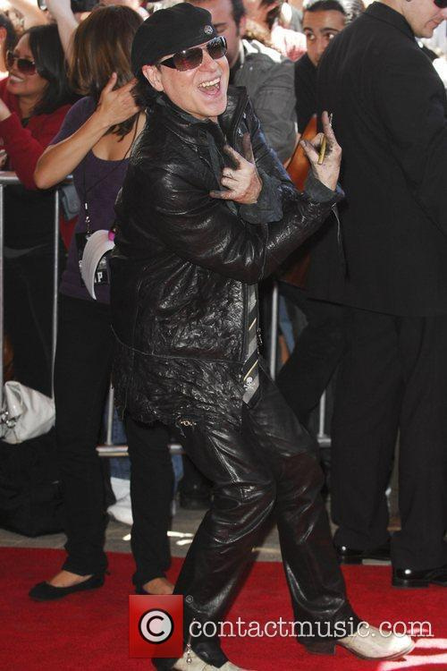 Klaus Meine The Scorpions are inducted on Hollywood's...