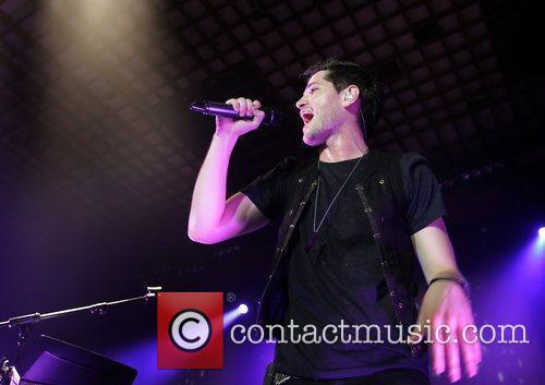 Danny O'Donoghue of The Script performing live at...