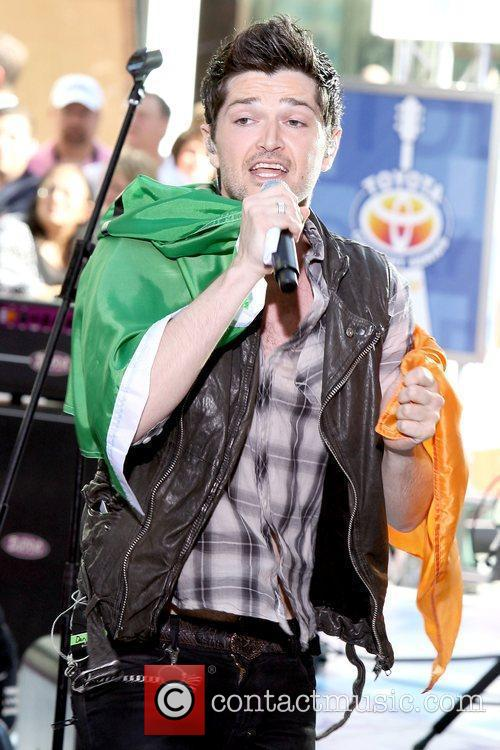 Irish rock band The Script perform at the...