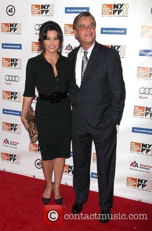 Gina Gershon and Aaron Sorkin 2