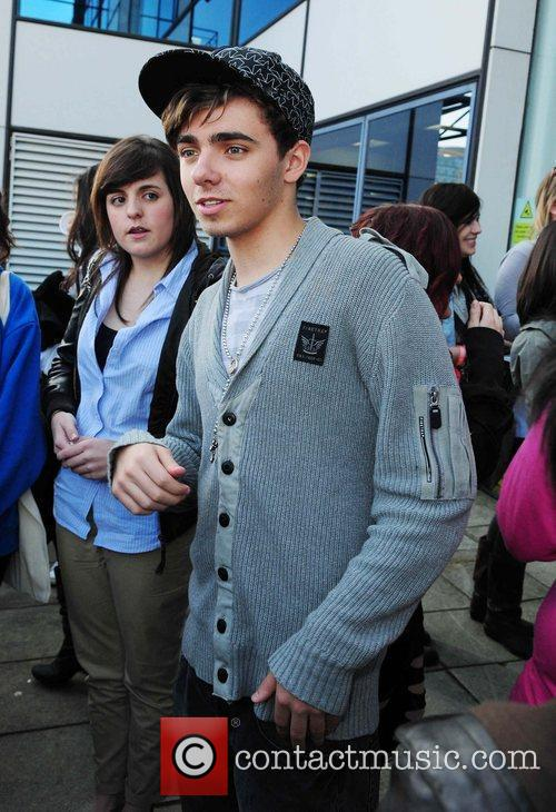 Nathan Sykes Boyband The Wanted outside the Real...