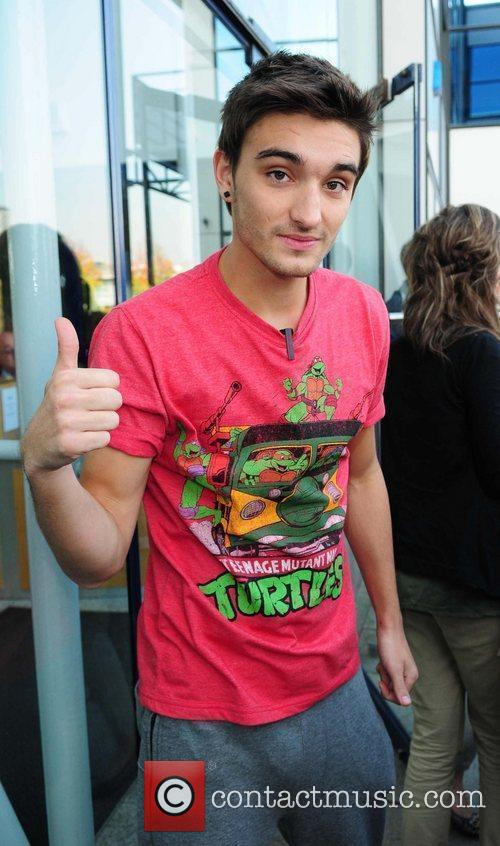 Tom Parker Boyband The Wanted outside the Real...