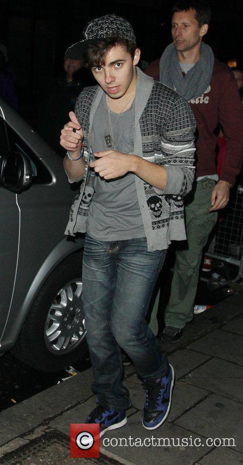 Leaving the BBC Radio One studios