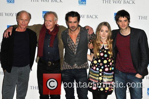 Ed Harris, Colin Farrell, Jim Sturgess, Peter Weir and Saoirse Ronan 2