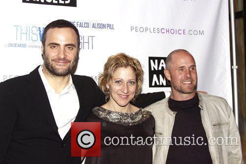 Dominic Fumusa, Edie Falco, and Paul Schulze attending...