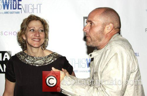 Edie Falco and Paul Schulze  attending the...