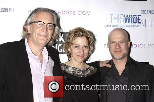 Edie Falco and Richie Jackson attending the opening...