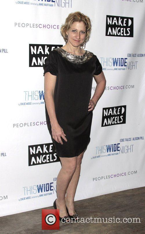 Edie Falco attending the opening night after party...