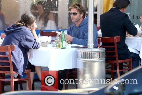 Actor having lunch with a friend in West...