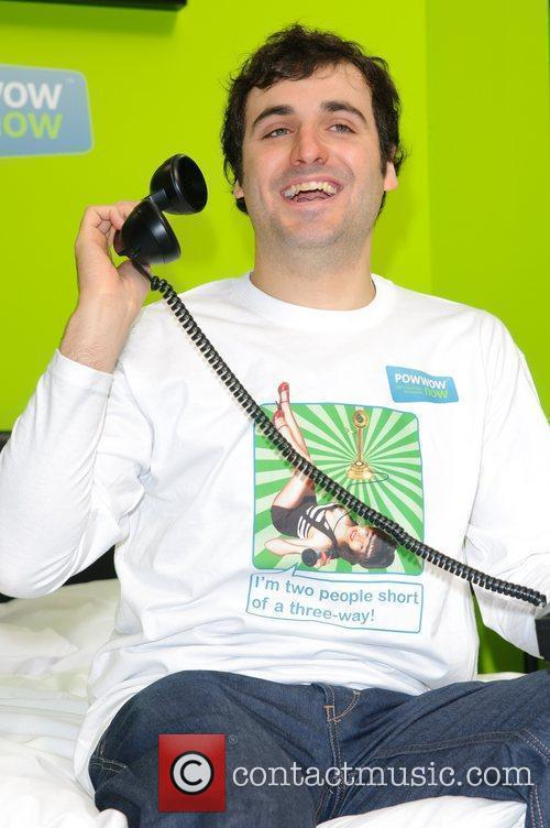 Patrick Monahan poses in a giant bed before...