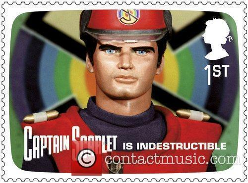 Captain Scarlet Royal Mail stamps featuring characters from...