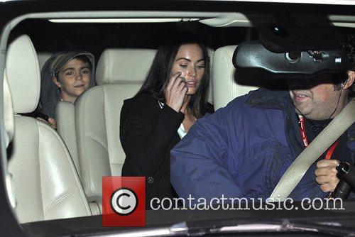 Megan Fox and step son, Kassius Green in...