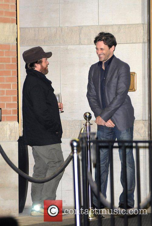 Zach Galifianakis and Jon Hamm at the 35th...