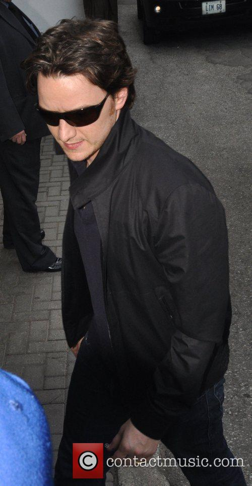 James McAvoy Entering press conference for movie, The...