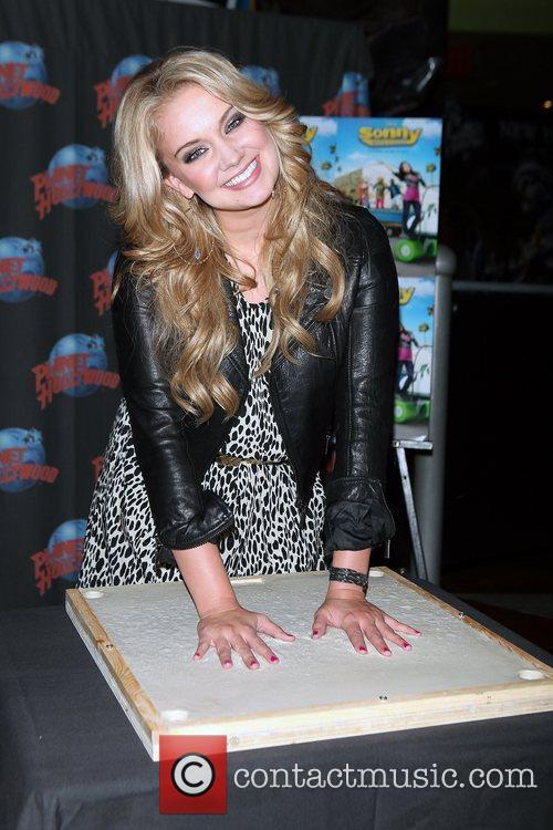 Tiffany Thornton promotes her starring role in the...