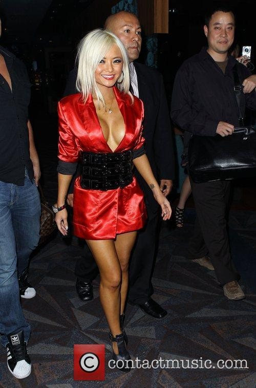 Tila Tequila arriving at LAX Nightclub at Luxor...