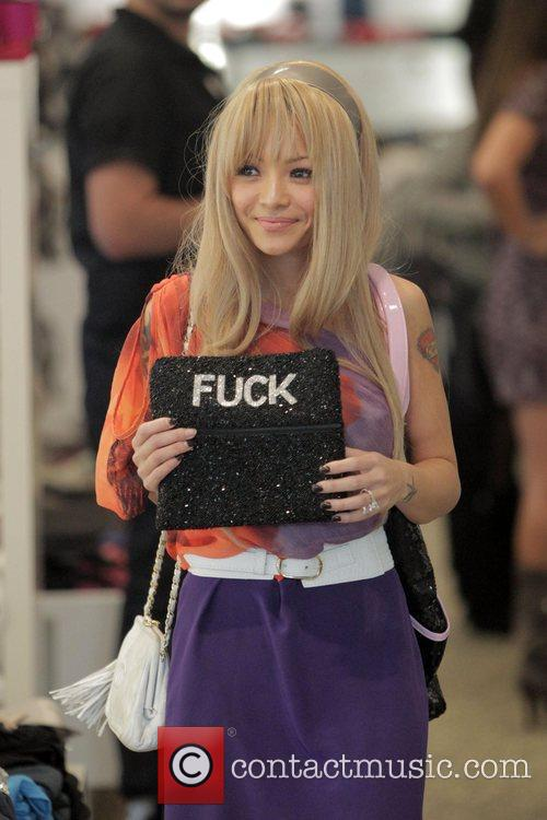 Tila Tequila shopping with friends on Robertson Boulevard....