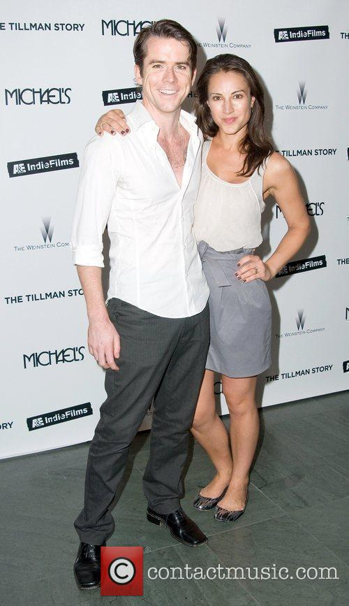 Christian Campbell and America Olivo attend the premiere...