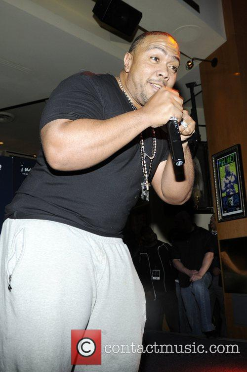 Timbaland  with some strange looking stains on...