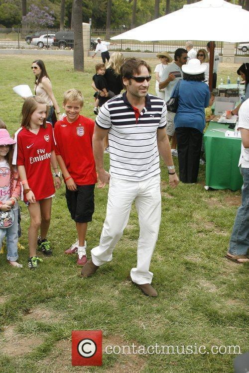David Duchovny and family The 21st annual Pediatric...