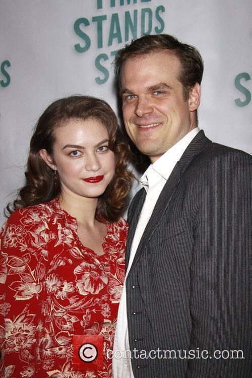 Elvy Yost and David Harbour Opening night of...