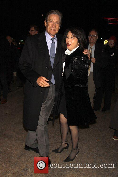 Maury Povich and Connie Chung Opening night of...