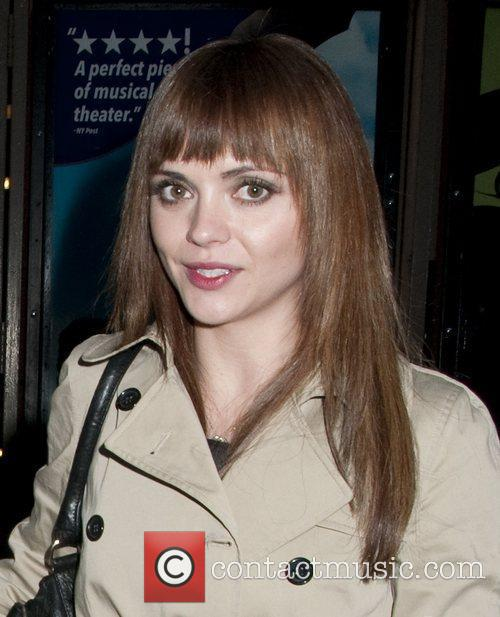 Christina Ricci at the stage door of the...