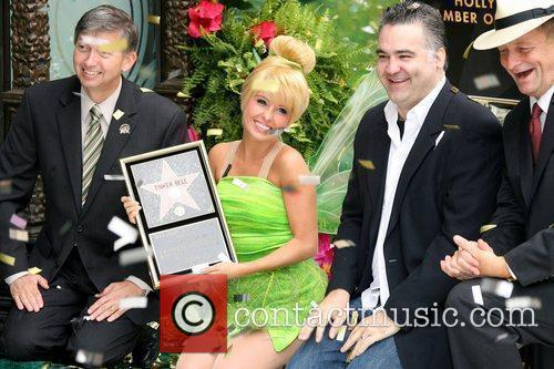 Tinker Bell receives the 2,418th star on the...