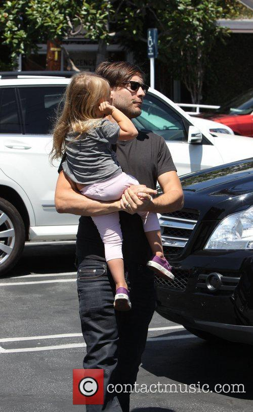 Tobey Maguire and his daughter Ruby Sweetheart Maguire,...