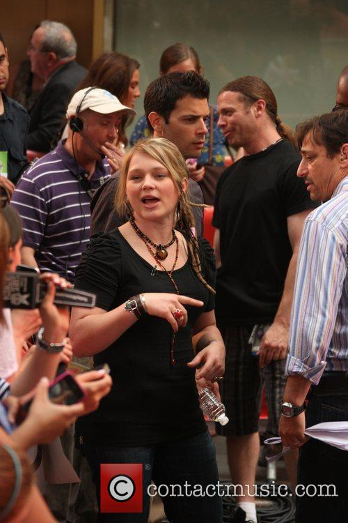 Crystal Bowersox at the Today show New York...