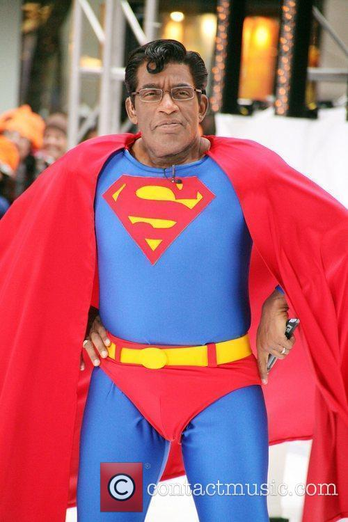 Al Roker as Superman NBC's 'Today Show' celebrates Halloween at Rockefeller Center New York City, USA