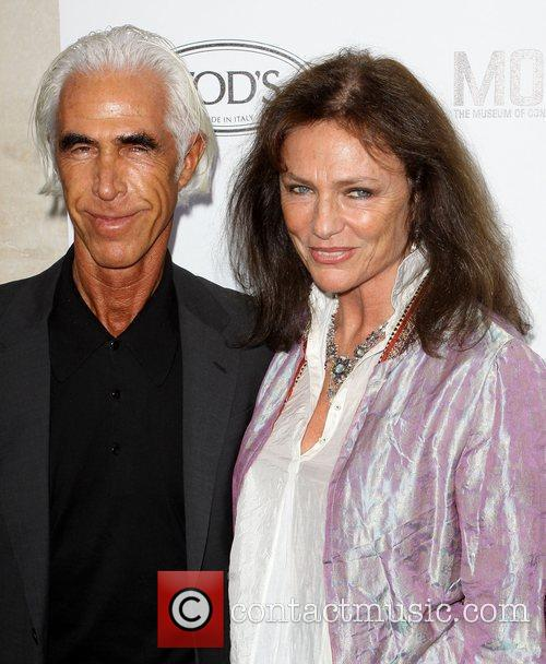 Jacqueline Bisset and Boyfriend Tod's Boutique grand opening...