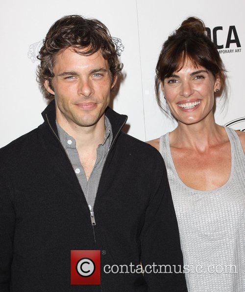 James Marsden and Wife Lisa Linde Tod's Boutique...