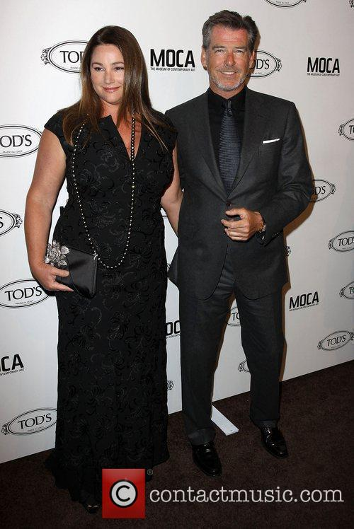 Keely Shaye Smith and Pierce Brosnan Tod's Boutique...